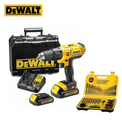 Dewalt DCD776S2A 18V, 1.5Ah, 13mm Hammer Drill Driver (with 100 PCs Accessory Kit)