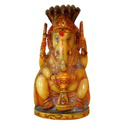 Resin Culture Marble Snake Ganesha Statue