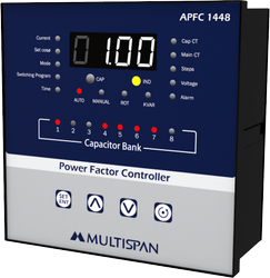 Multispan Three Phase APFC Controller, Size: 144 X 144 X 70 In Mm, Automation Grade: Automatic