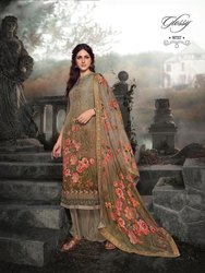 Glossy Royal Tale By Simar Natural Crape Embroidery Dress Materials Designs