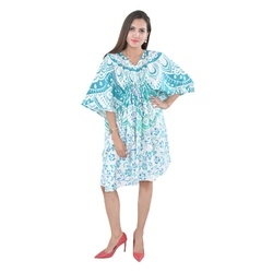 V Neck Beachwear Kaftan