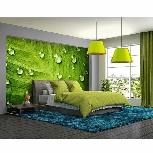 Horizontal Vinyl And Paper Bedroom Wallpaper, Rs 120 /square Feet