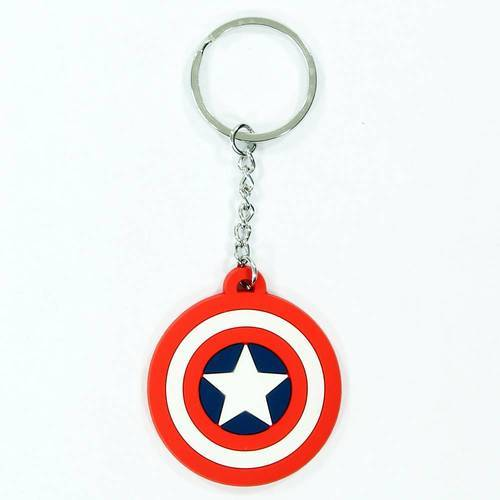 Captain America Shield Logo Rubber Key Chain