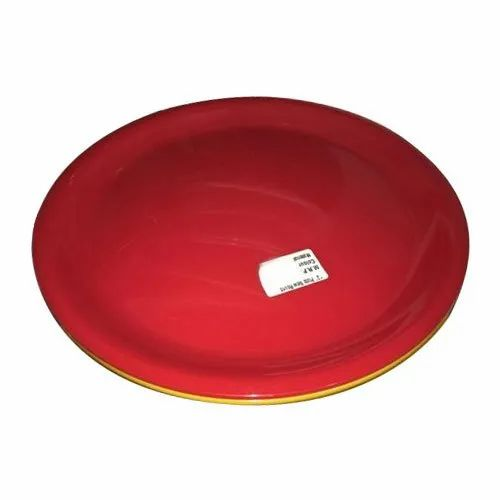 Swift Dinner Acrylic Red Round Plate, Size: 13 Inch