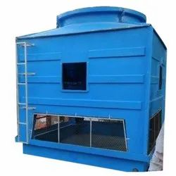 Three Phase Blue Industrial FRP Cooling Tower, Cooling Capacity: 150 Tr