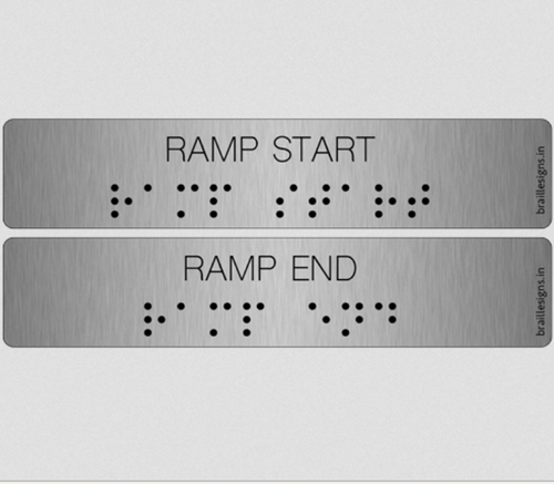 Braille Handrail Signs - View Specifications & Details of