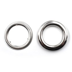 Fancy Eyelets, Shape: Round, Coating: Nickel Coated