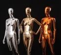 Chrome Finish Female Mannequins