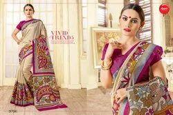Casual Bhagalpuri Silk Fancy Saree, With Blouse Piece