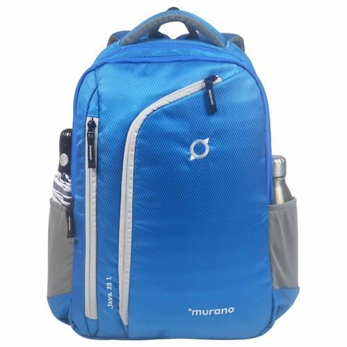 c3cf2813d9 Polyester Blue And Green And Grey Murano Light Weight 23l Laptop Backpack