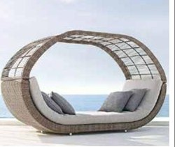 Brown Outdoor Daybed