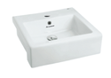 Parryware Qube X Semi Recessed Basin White