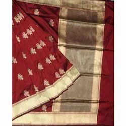 Banarasi Silk Stylish Sarees, Length: 6 m