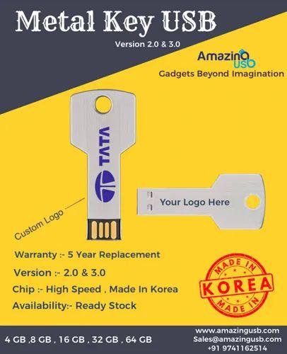 Metal Key Shape USB Pen Drive