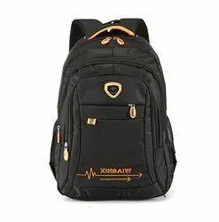 Black Unisex Computer Backpack College School Bags
