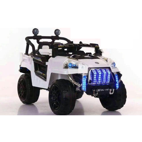White Battery Operated Baby Jeep