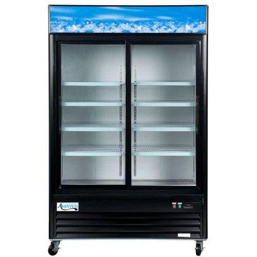Avantco Stainless Steel Glass Door Refrigerator Double Door Rs