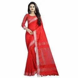 Cotton Linen Saree