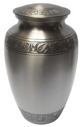 Brass Steel Grey Urn