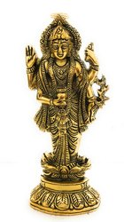 Bharat Handicrafts Gold Plated Lord Dhanwantri Wall Hanging and Tableware