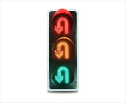 U Turn Traffic Signal Light
