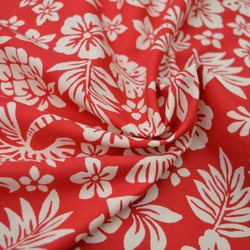 Organic Cotton Poplin Floral Printed Fabric