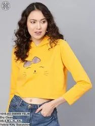 Yellow Kitty Sweatshirt