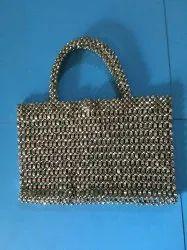 Metallic Beaded Hand Bag