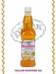 Marshina Yellow Mustard Oil, Packaging Size: 750 ml, Packaging Type: Plastic Bottle