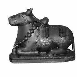 Black Marble Nandi Statue