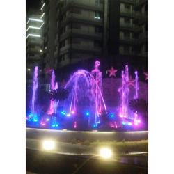 Blue And Green Colored Water Fountain