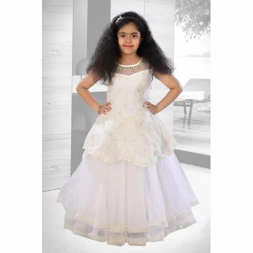 cbfec6e61b9b White Party Wear Kids Girl Designer Gown
