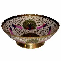 Brass Standing Round Bowl
