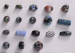 Large Hole Millifiori / Hand Decorated Glass Beads