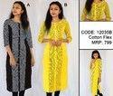Check Printed Casual Ladies Cotton Flex Kurti