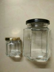 250 ml Hexagonal Glass Jar