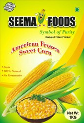 Pure Frozen Sweet Corn, Packaging Type: Plastic Bag, Packet