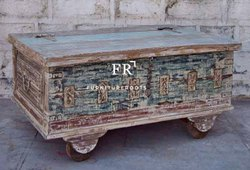Home Furniture Vintage - Vintage Storage Trunk Box