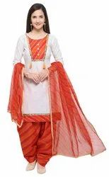 Women's Embroidered Un-stitched Dress Material In Cotton Fabric (ej1180-88023) Multicolored