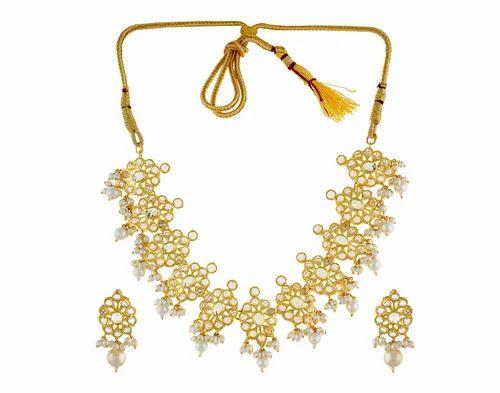 be6b69a184968 Alyza Pearls Full White Almas Polki Necklace Set Apjpk0003