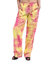 Womens Cotton Printed Formal Pants