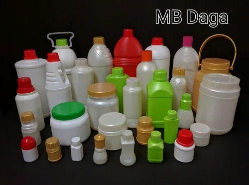 White Circular HDPE Bottles