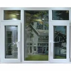 Plain UPVC Combination Window, Thickness Of Glass: 5 to 8 mm