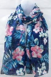 Poly Voile Floral Printed Scarf