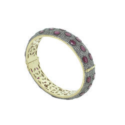 Ruby Diamond Bangle Bracelets