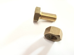 Brass Hex Nut Bolt, Packaging Type: Box