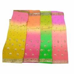 Party Wear Embroidery Zari Work Saree
