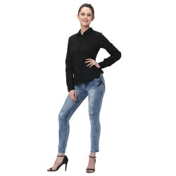 Formal Black Cotton Shirt