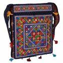 Zaributi Multicolor Navy Blue Color Embroidered Banjara Bags Sling Bags