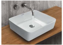 Mozio Italian Ceramic Sabbia Table Top Wall Hung Basin, For Home, Model Name/number: S4235